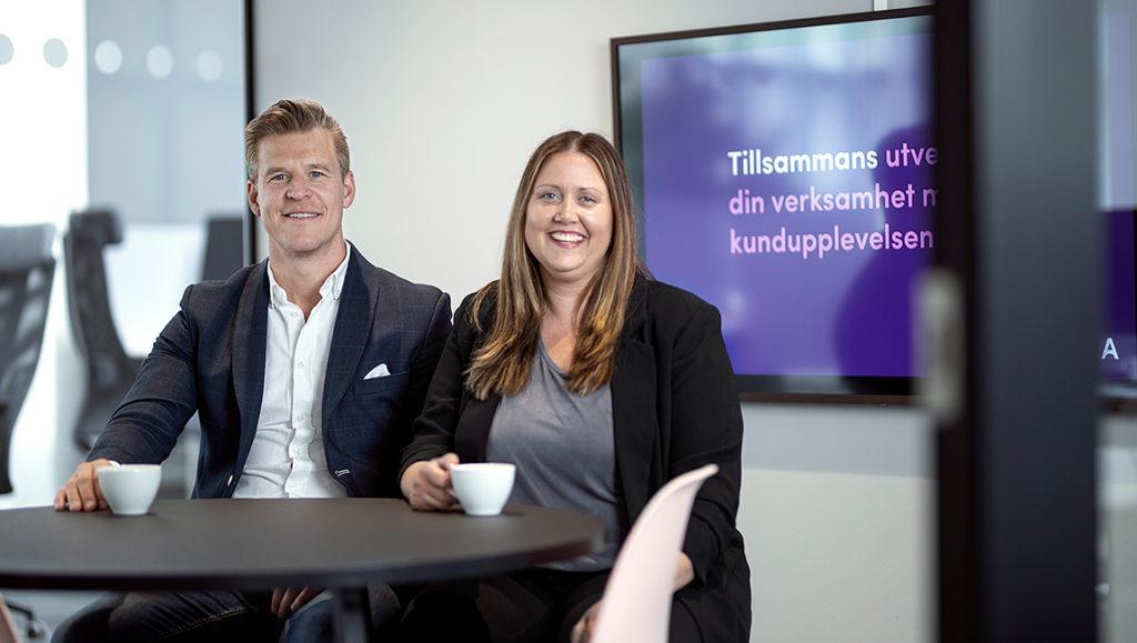 Mikael Engström och Linda Jonsson är delägare och affärsutvecklare på Advant.